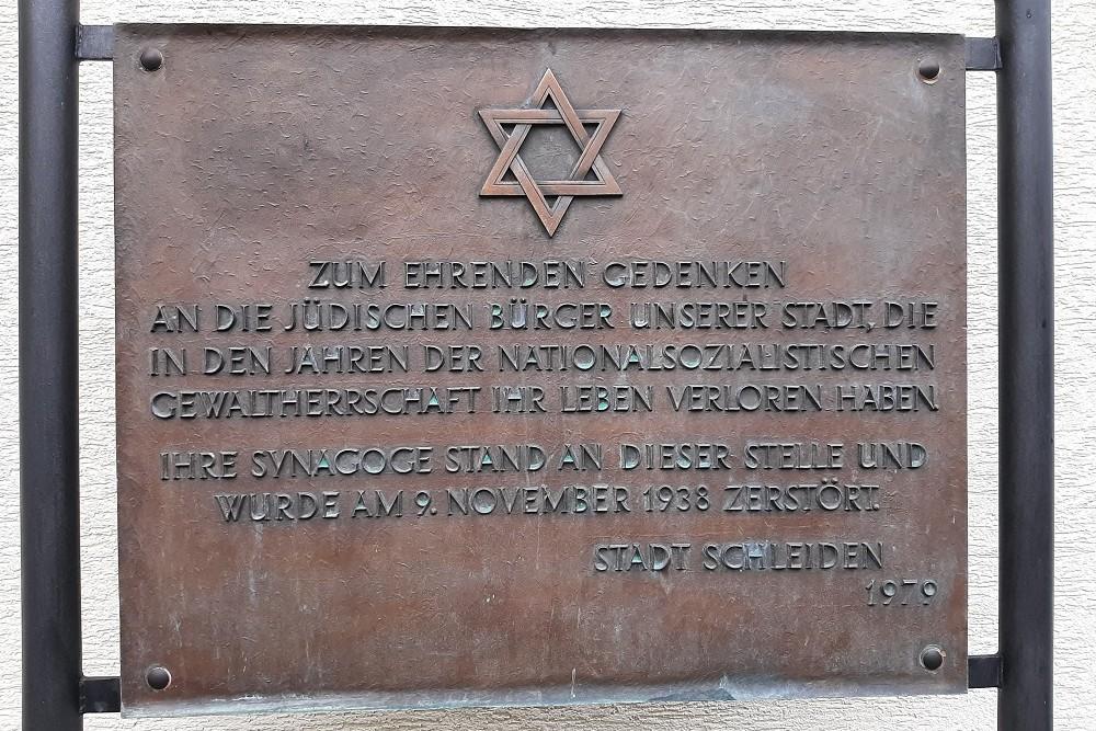 Plaque Destruction of the Jewish Community Gemünd