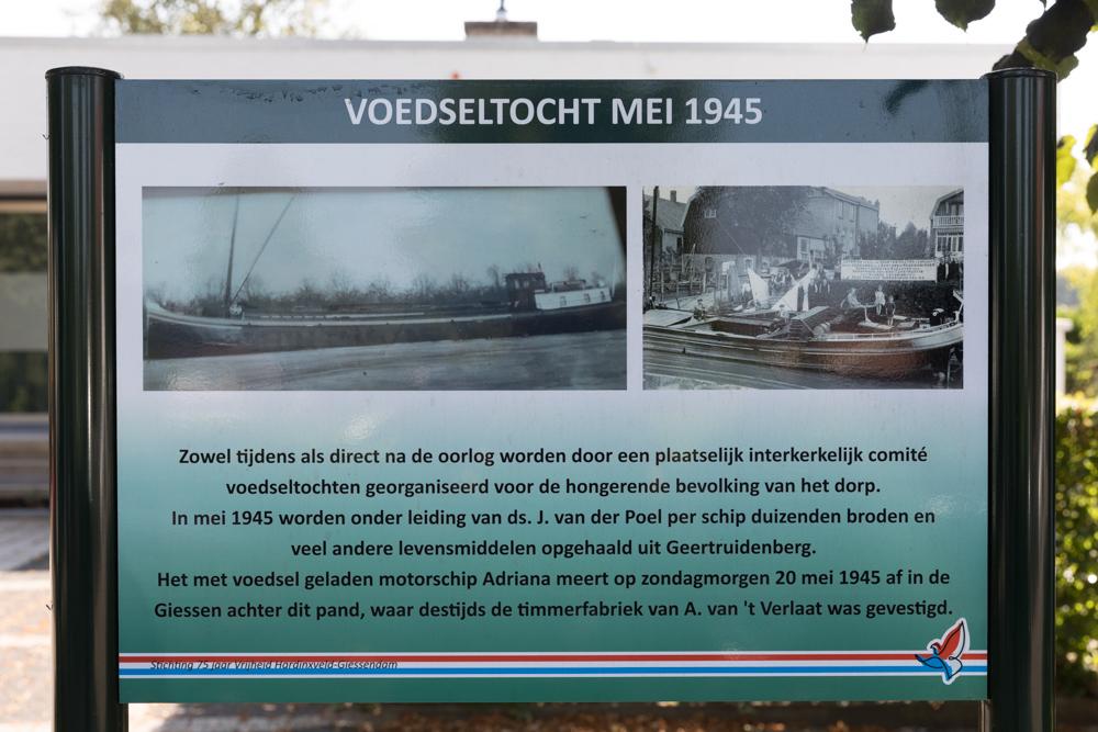 Information sign no. 6 Second World War in Hardinxveld-Giessendam