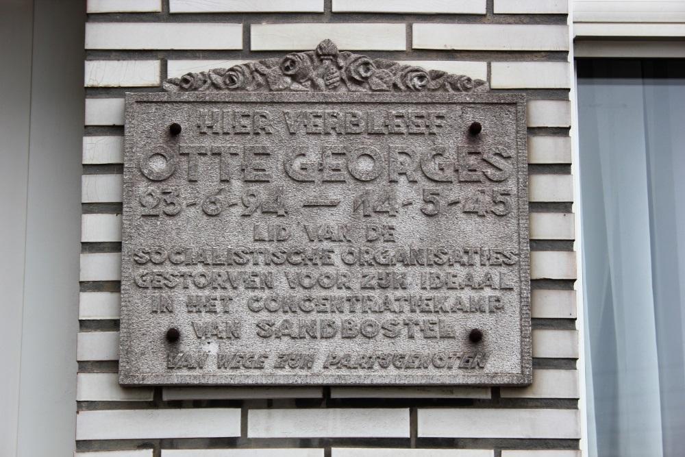 Gedenkplaat Georges Otte