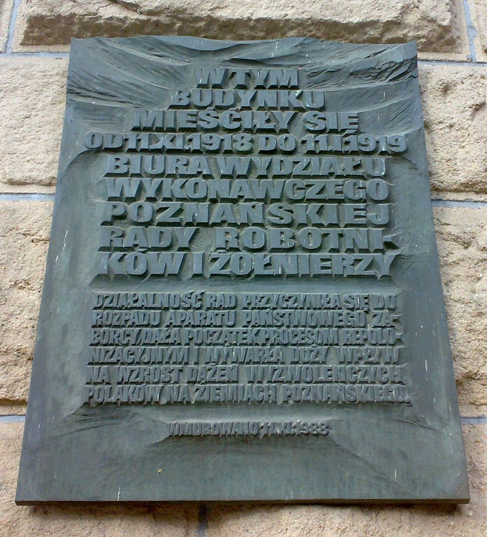 Plaque Poznan Workers and Soldiers Council