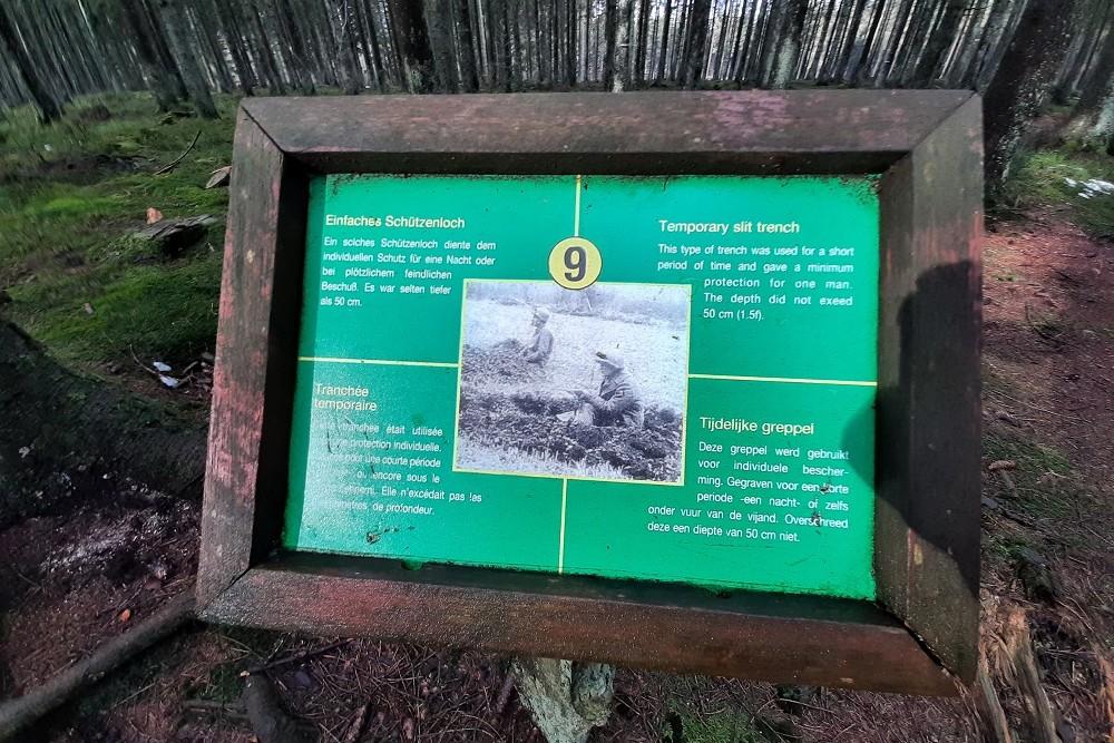 Herinneringsplaats Hasselpath Positie 9. Tijdelijke greppel
