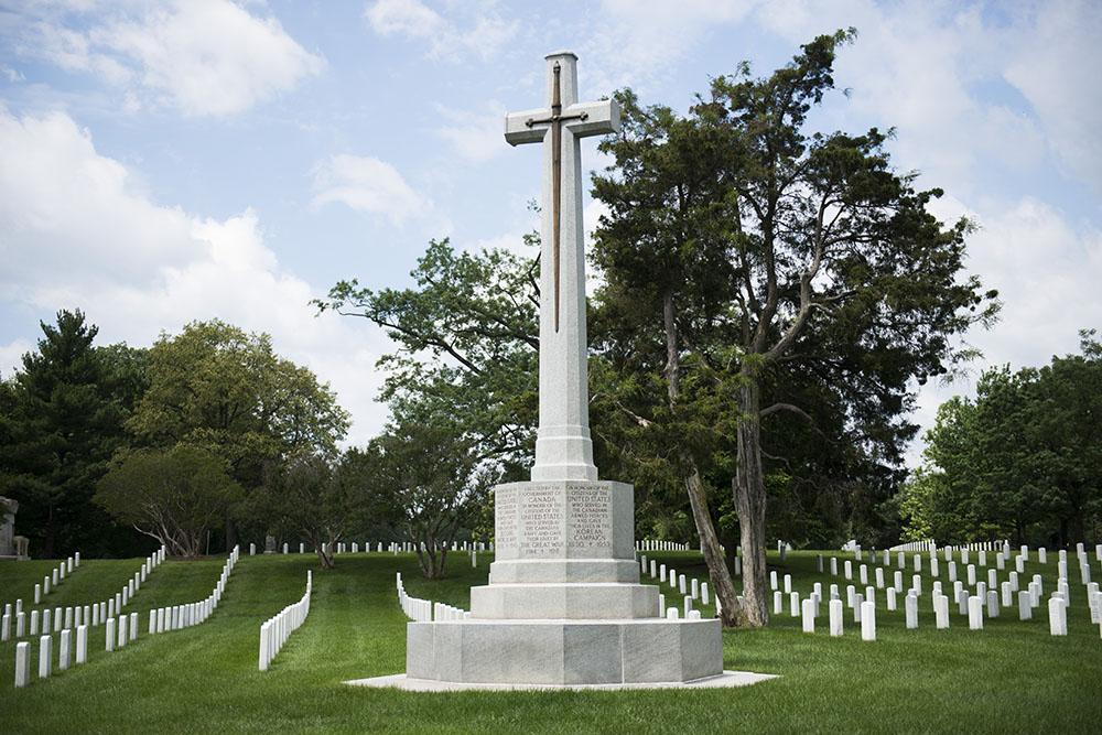 Canadees Cross of Sacrifice Arlington National Cemetery