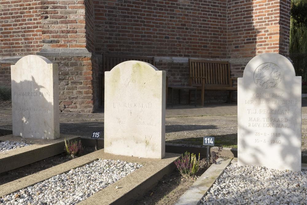Nederlandse Oorlogsgraven Nederlands Hervormd Kerkhof Groesbeek