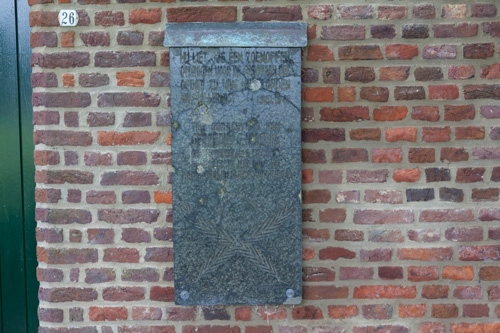 Plaquette Gerardus G.H. Derks