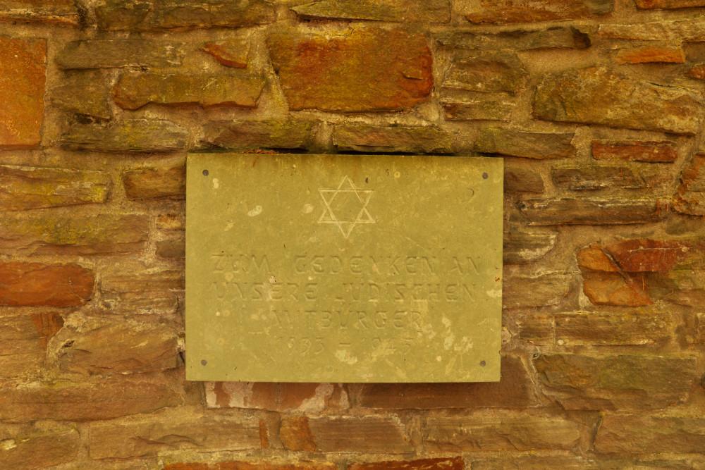 Plaque Jewish Citizens