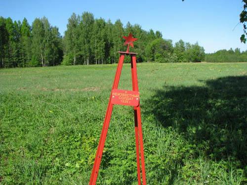 Field Grave Unknown Russian Soldier Kirjasalo