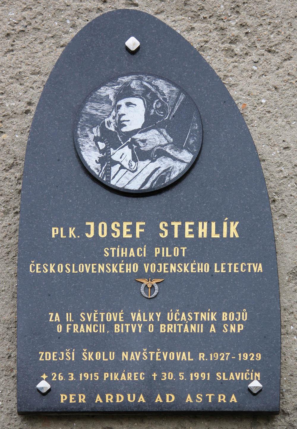 Plaque Josef Stehlik