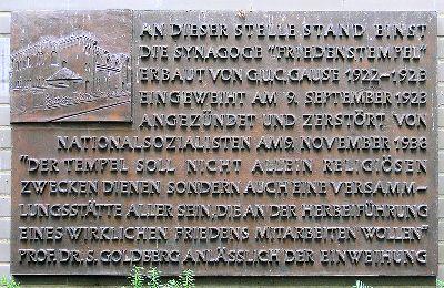 Plaque Synagogue Friedenstempel