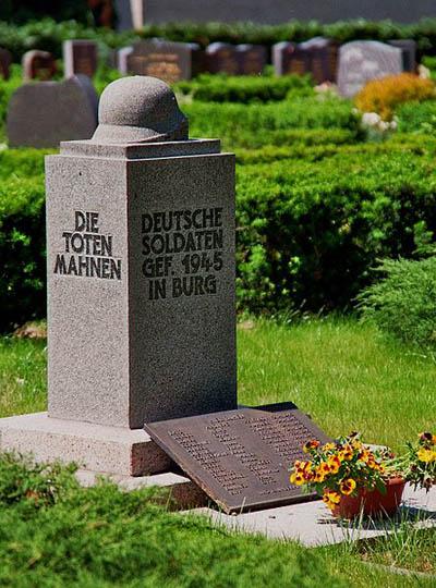 Mass Grave German Soldiers Burg