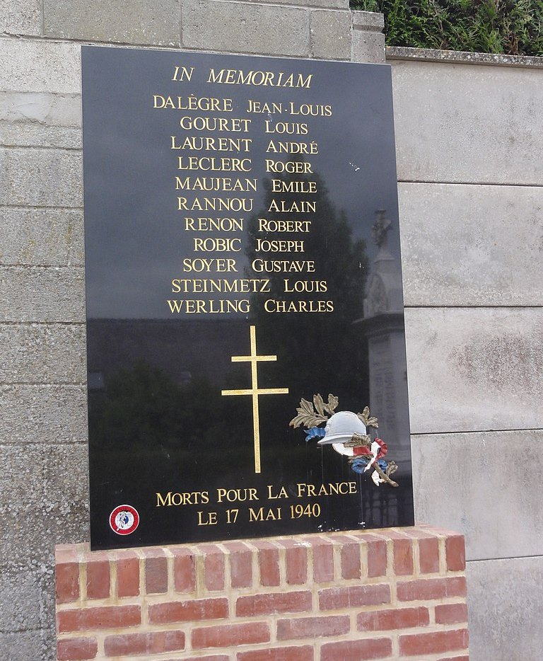 Monument Strijd 17 Mei 1940