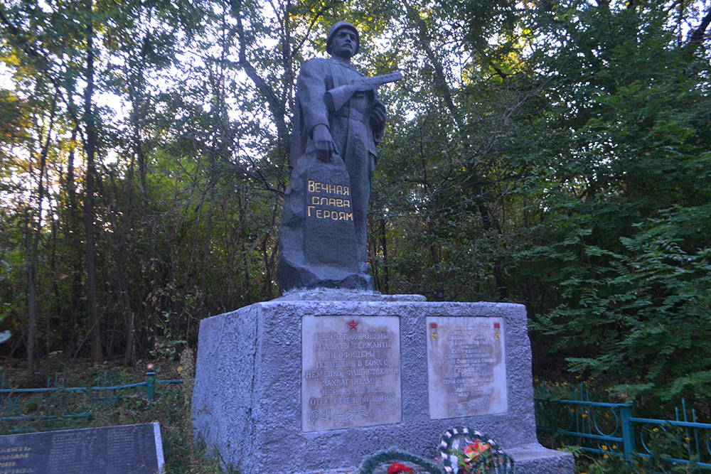 Mass Grave Soviet Soldiers Velykyi Bukryn