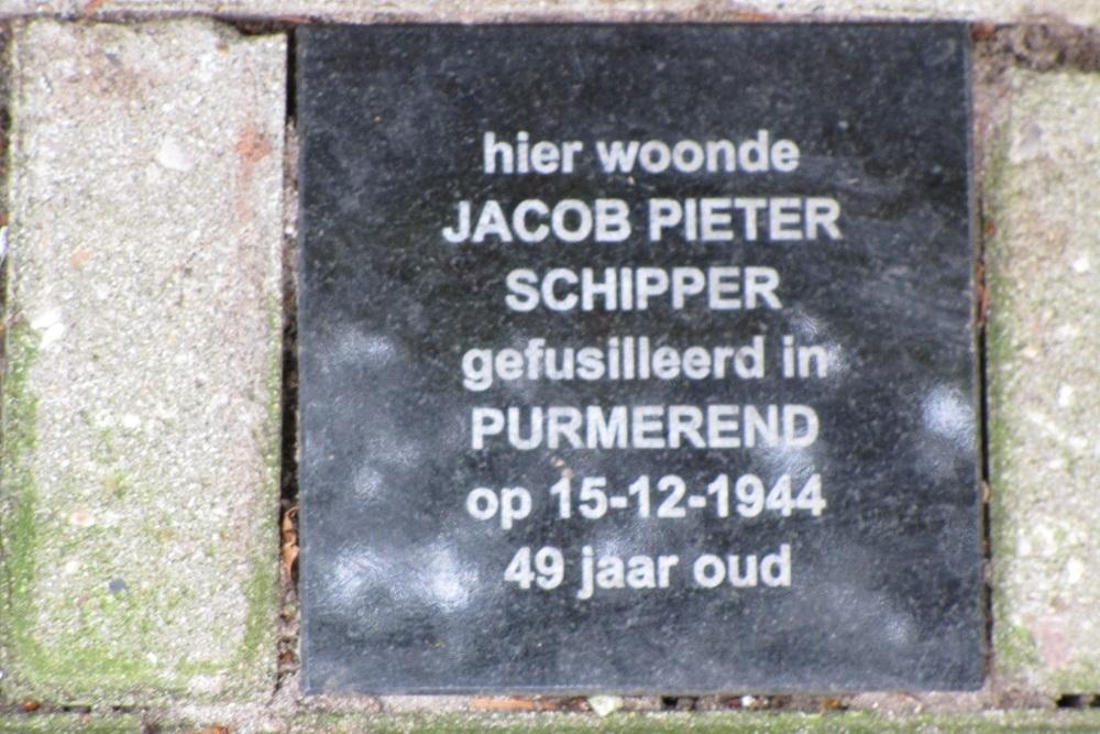 Herdenkingssteen Vermeerstraat 112