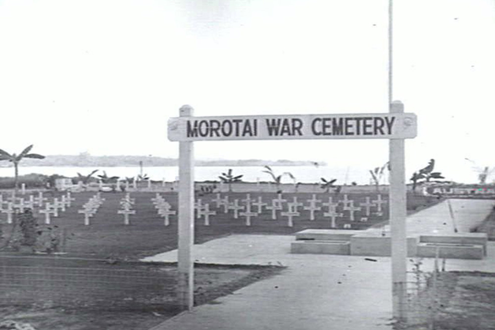 Locatie Tijdelijke Australische Oorlogsbegraafplaats Morotai