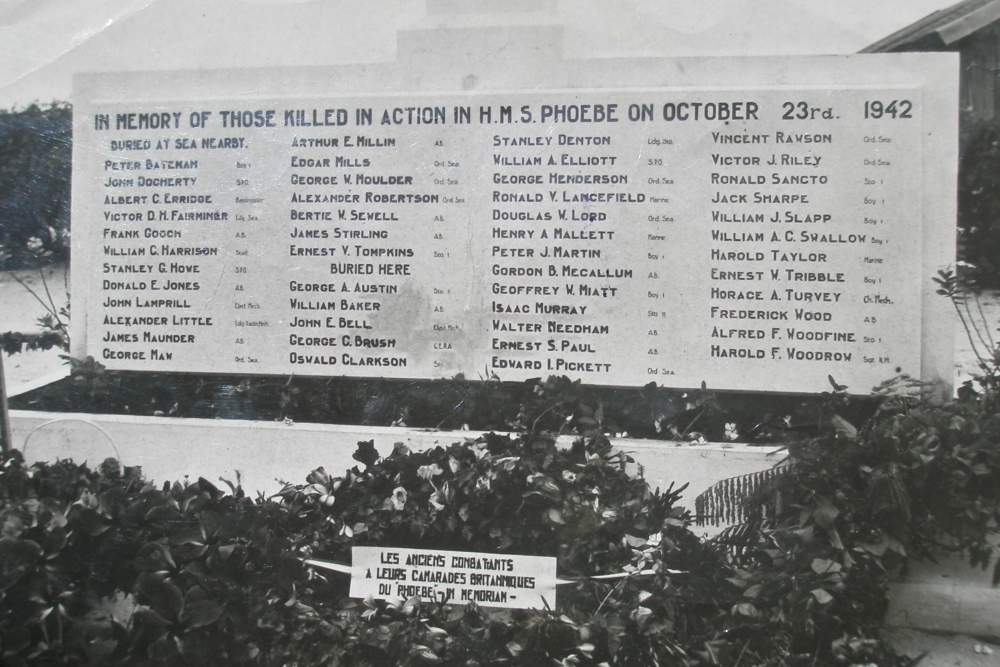 Memorial HMS Phoebe