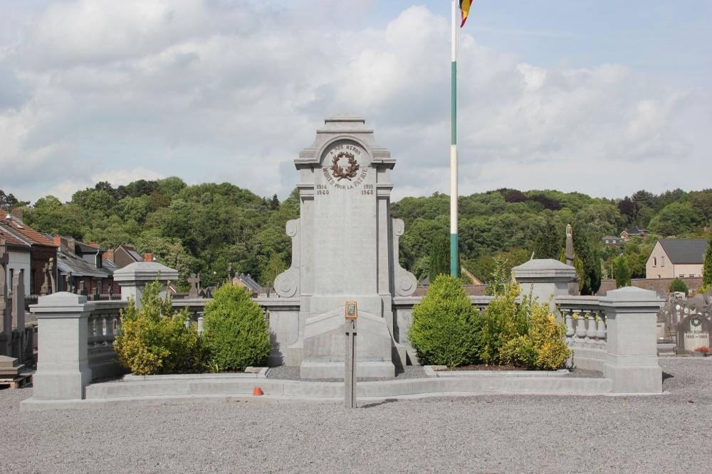Oorlogsmonument Begraafplaats Wavre