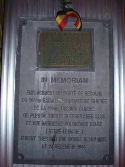 Monument Renée Lemaire & 10th Armored Division