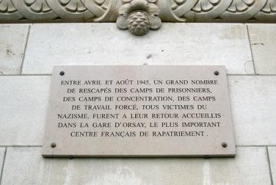 Plaque Gare d'Orsay