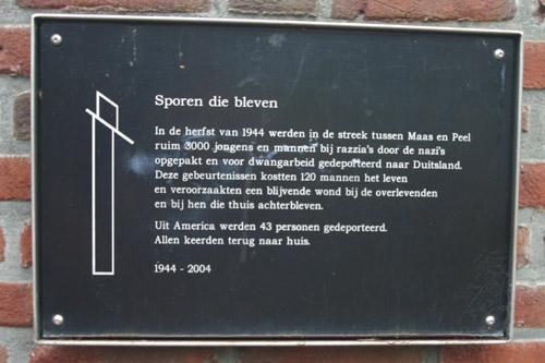 Monument 'Sporen die bleven' America