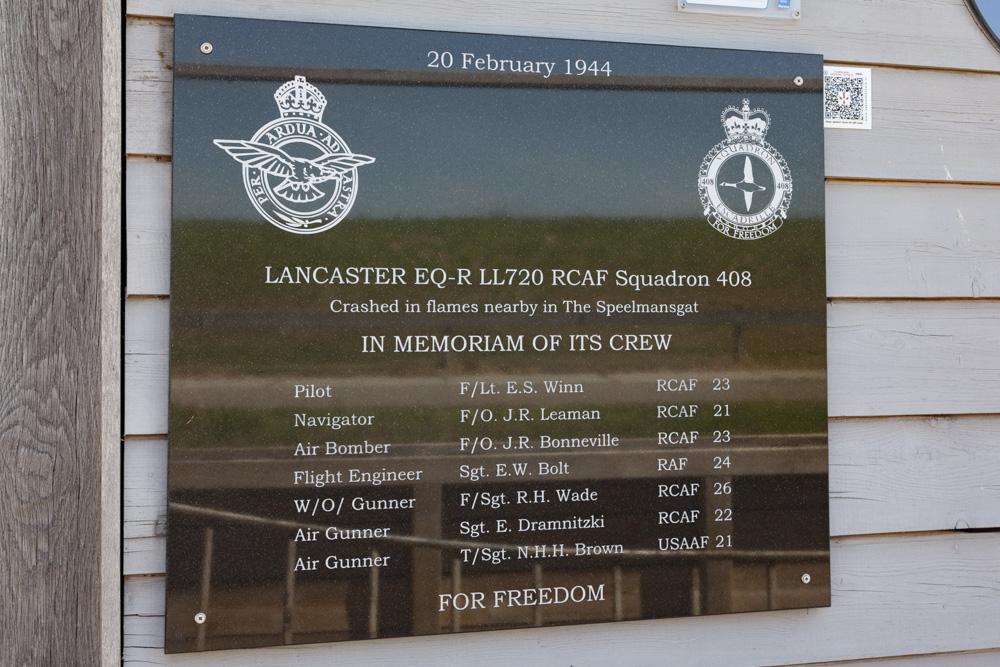 Plaque Lancaster LL720
