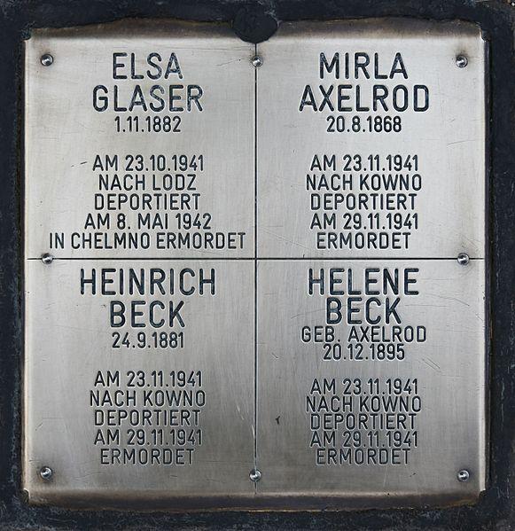 Gedenkstenen Braungasse 48