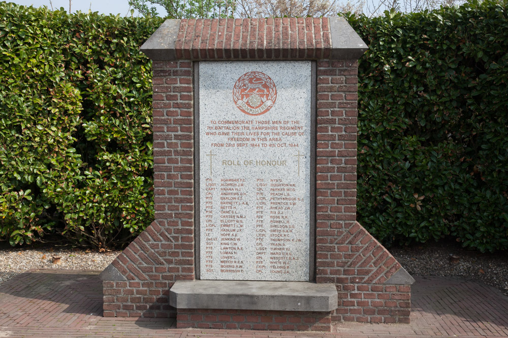 Monument The Hampshire Regiment Driel
