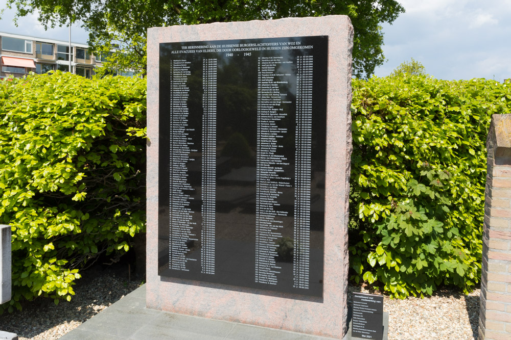 Memorial with names of War Victims Huissen