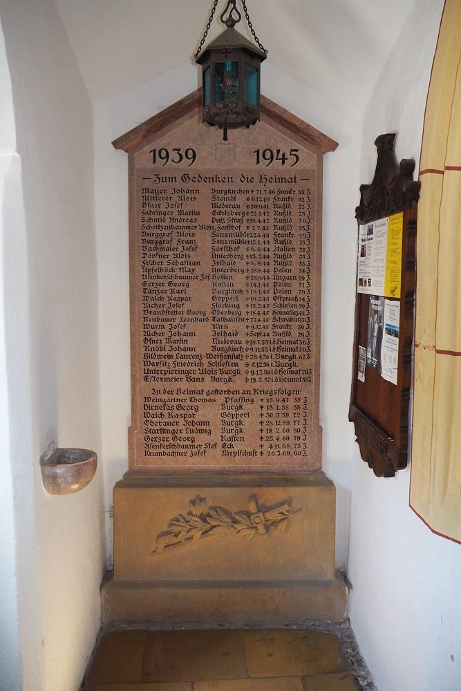 Oorlogsmonument Burgkirchen an der Alz