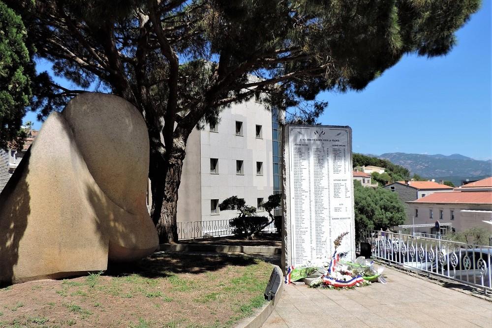Gedenkplaat Porto-Vecchio