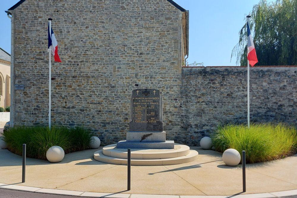 War Memorial Saint Martin des Entrées
