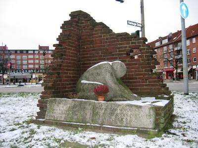 Memorial Victims Bombardment Hamburg