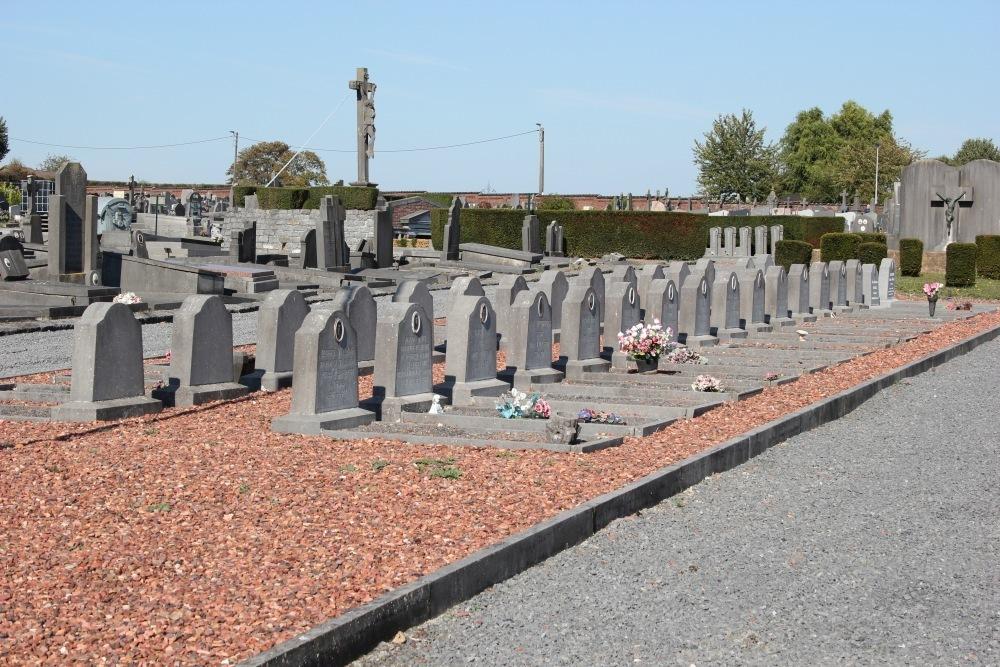 Ereperken Oudstrijders en Oorlogsslachtoffers Braine-le-Comte