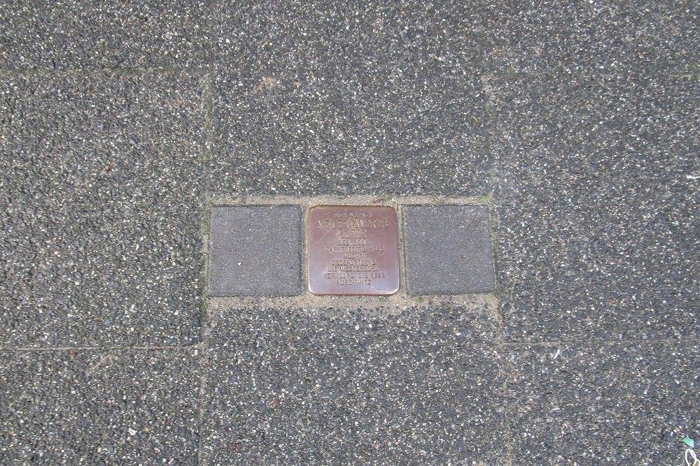 Herdenkingssteen Van Imhoffstraat 3