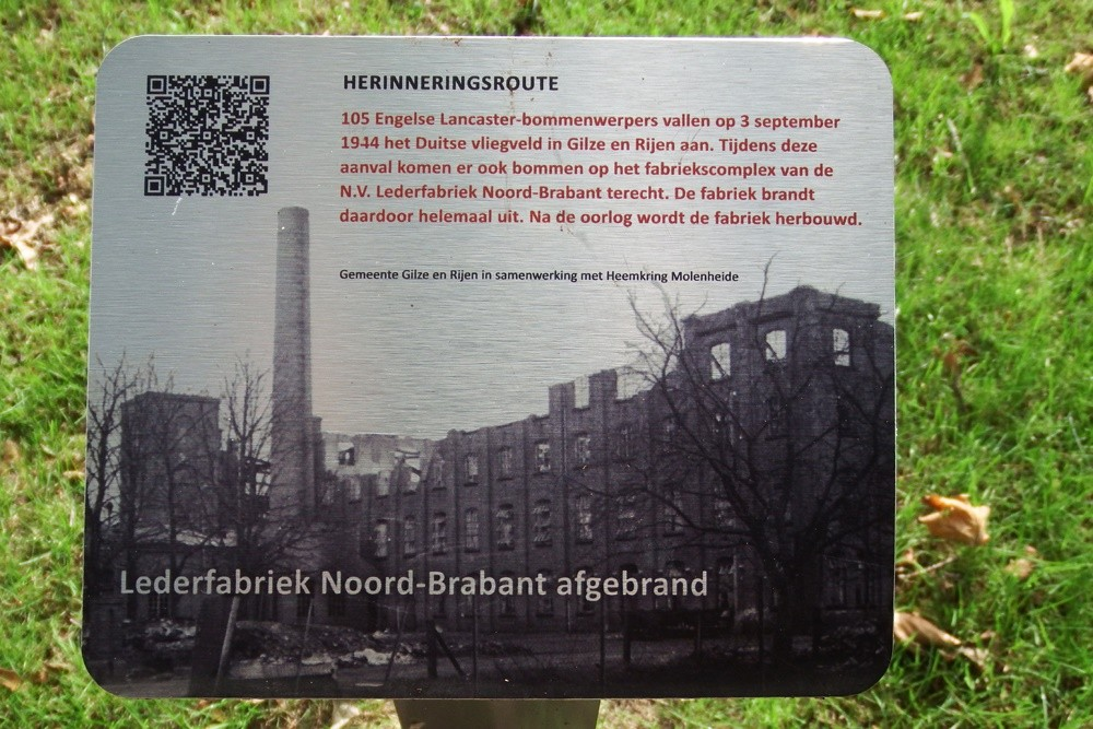 Memory Route World War ll Lederfabriek North Brabant Burned in Rijen