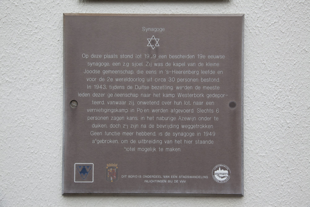 Plaque former synagogue