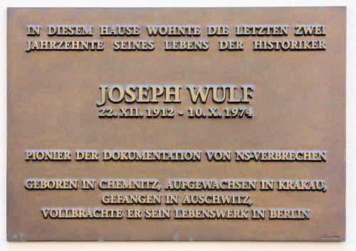 Plaquette Joseph Wulf