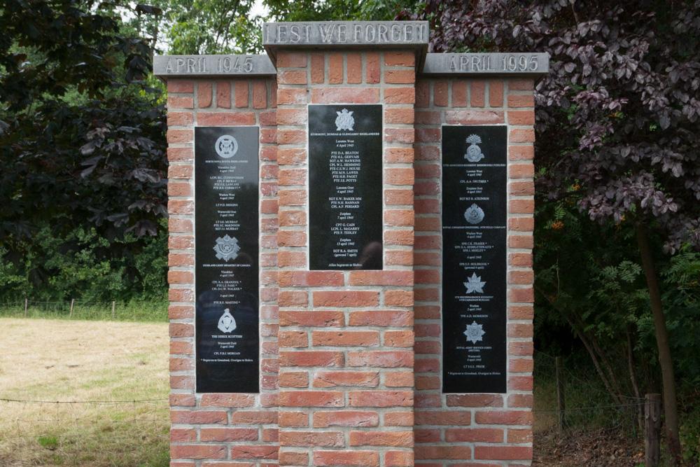 Memorial Canadian Soldiers