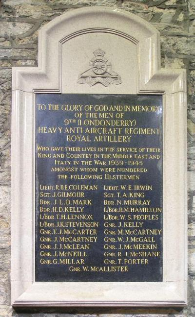 Monument 9th Londonderry Heavy A.A. Regiment