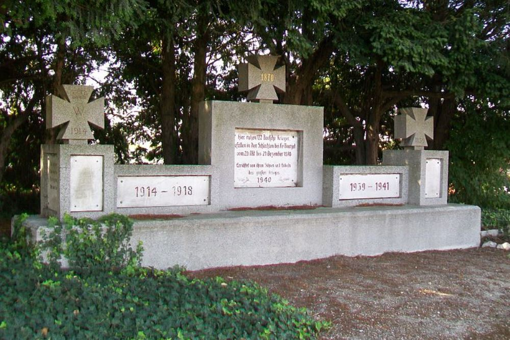 German Memorial Battle of Bourget