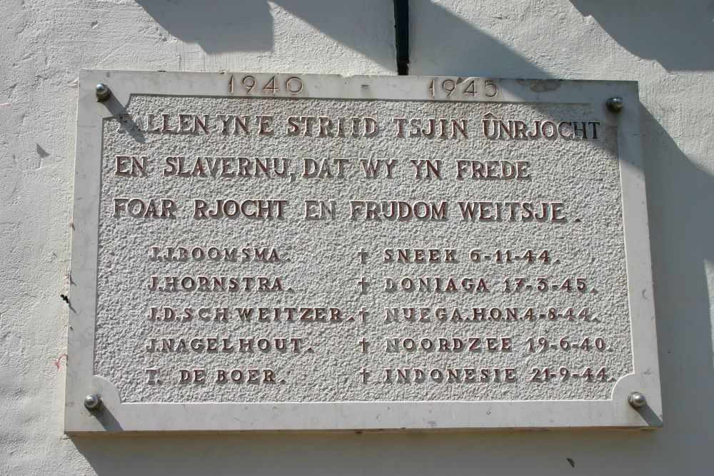 Remembrance Plaque Killed Residents Gaasterland
