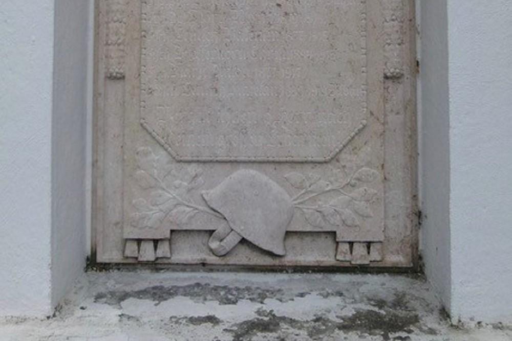 Monument To War Victims WW1 Partenen
