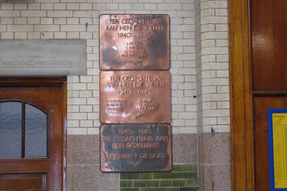 Plaque Killed Railway Employees Haarlem