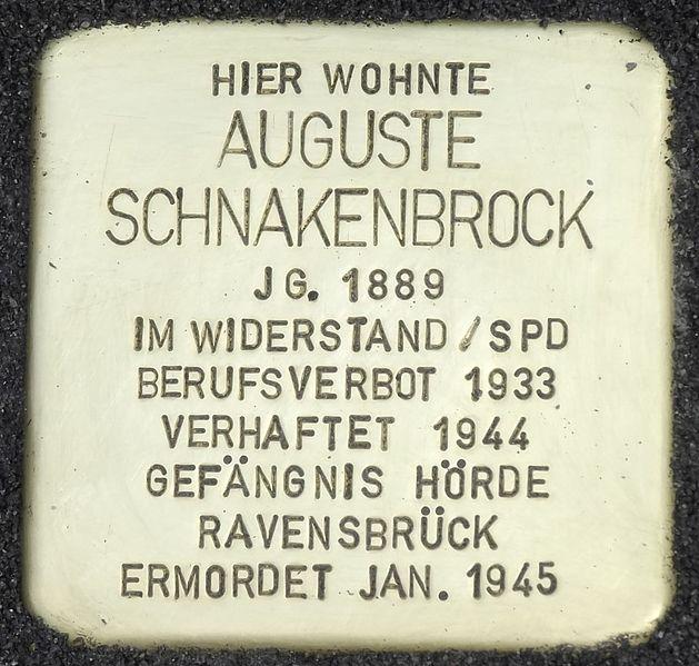 Stumbling Stone Horstmarer Straße 30