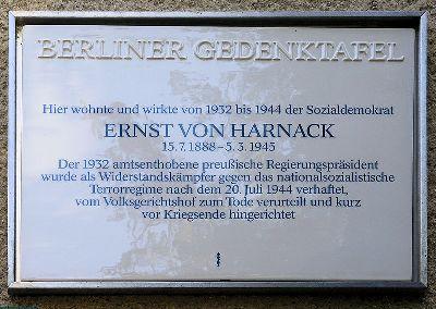 Plaque Ernst von Harnack