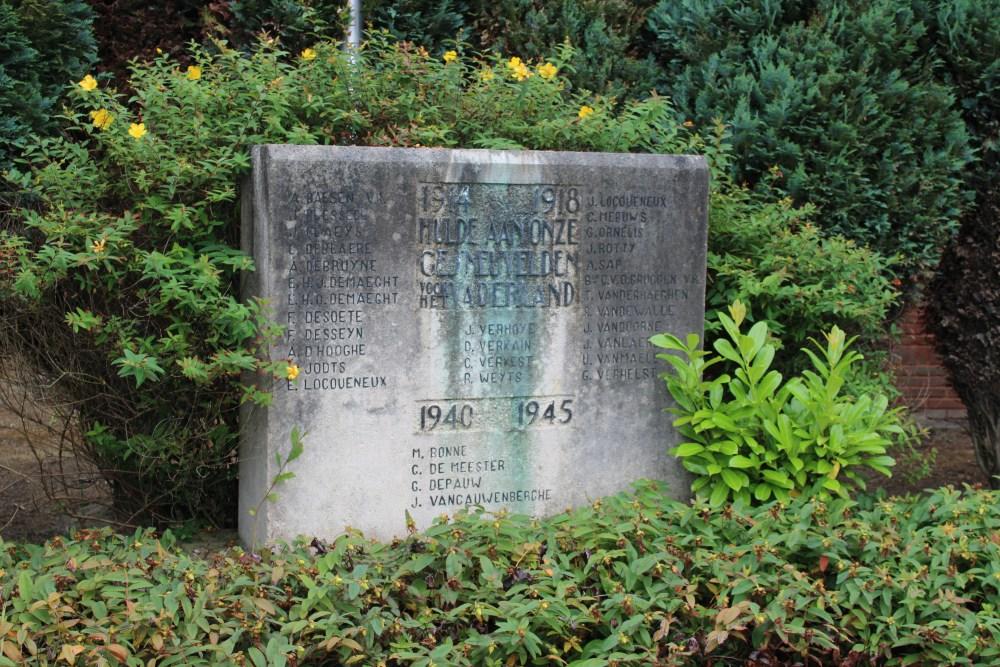Oorlogsmonument Begraafplaats Wingene