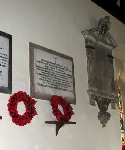 Plaques St Andrew Church Kirby Bedon