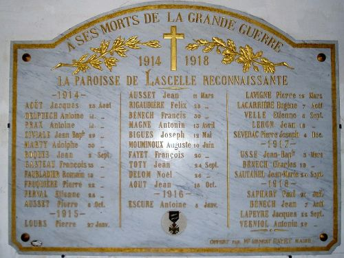 War Memorial Lascelle