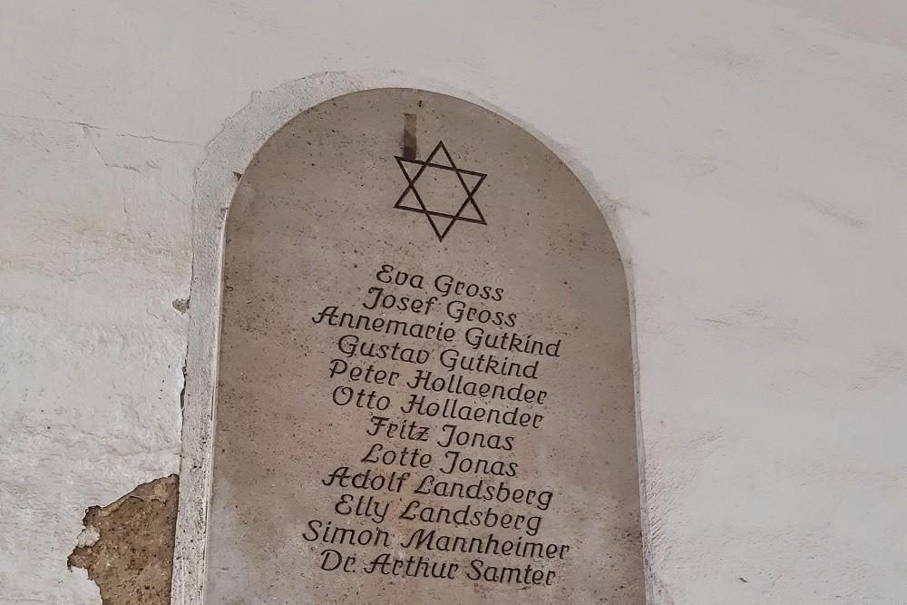 Monument Jewish Residents Jüdengasse Naumburg