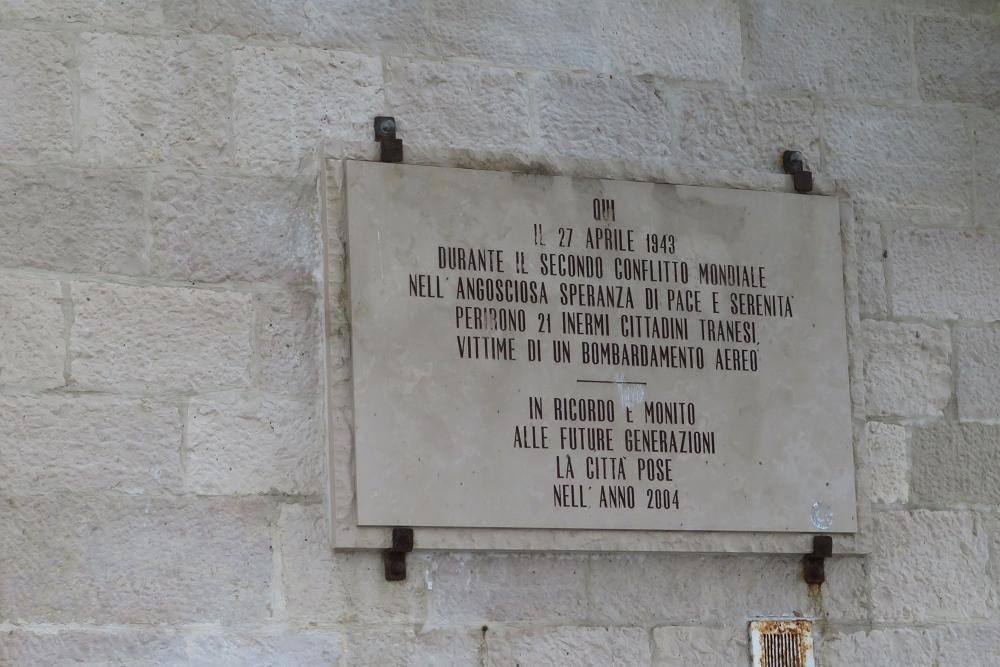 Plaque Victims Bombardment 27 April 1943