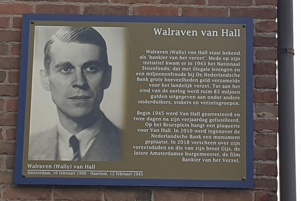 Herdenkingsborden Slotermeer Walraven van Hallweg