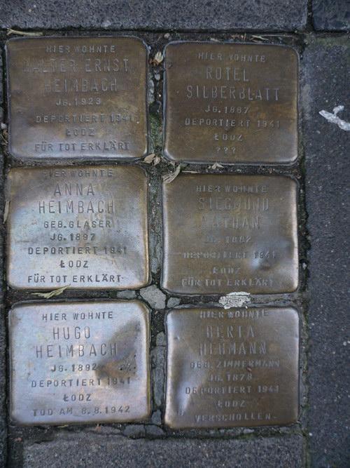 Stolpersteine Heinsbergstraße 22